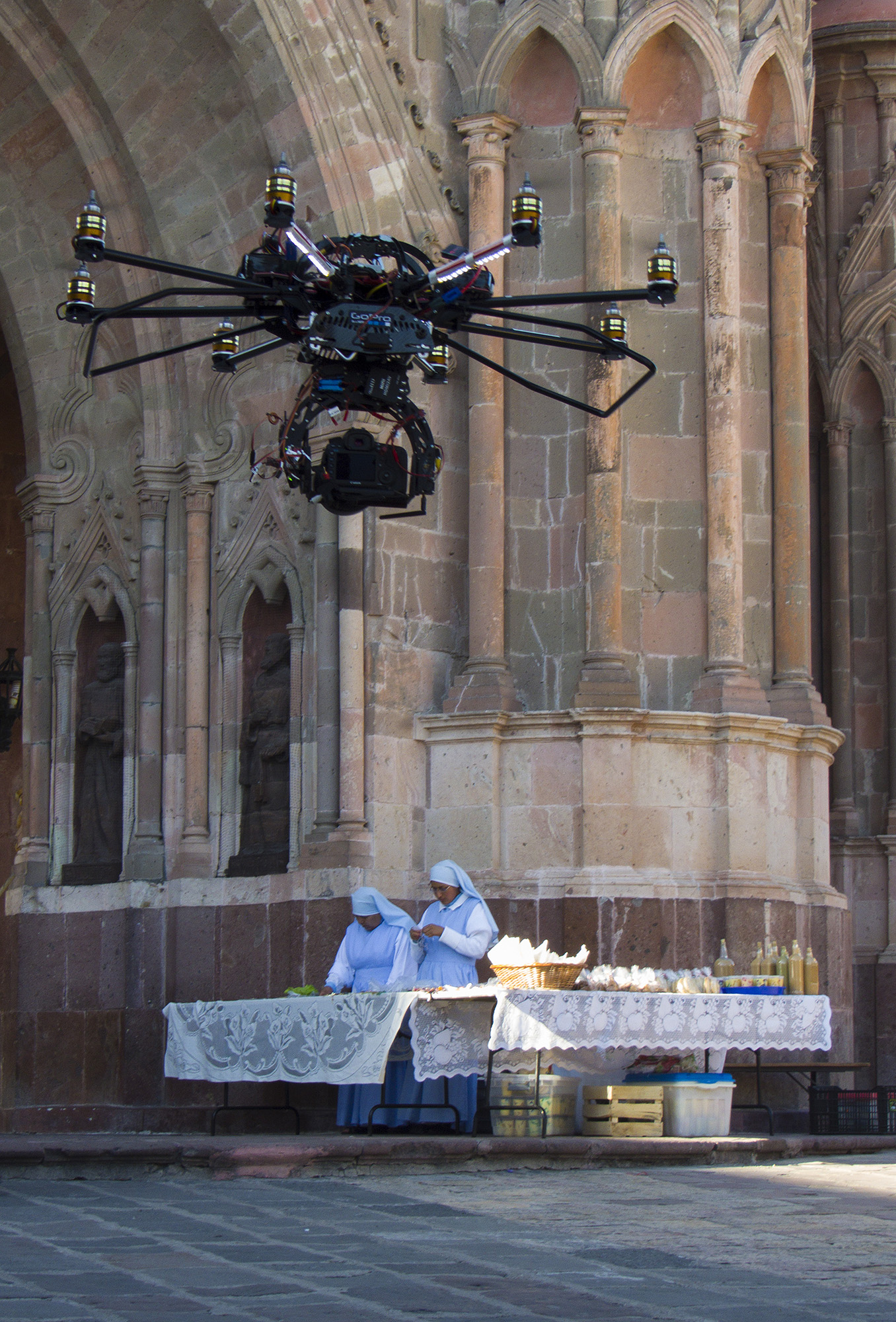 Drone with Nuns