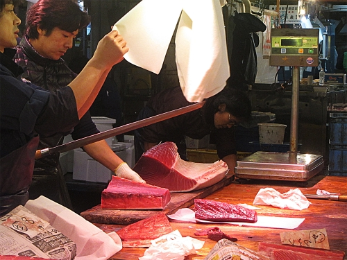 Maguro at Tsukiji Fish Market
